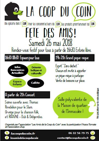 Flyer Fête des ami.e.s
